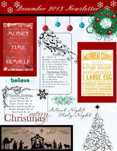 December Relief Society Newsletter