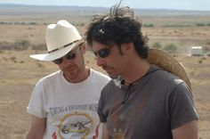 Coen Brothers on-set of No Country for Old Men