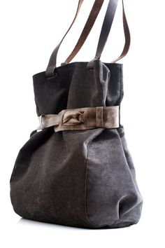 Canvas Tote, large canvas bag, shoulder bag, hobo bag Diaper bag dark Travel bag