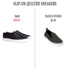 How to get the 'Slip-On Quilted Sneaker' look for less