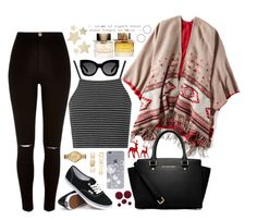 """Boxing Day"" by goggy1355 ❤ liked on Polyvore featuring Topshop, American Eagle Outfitters, River Island, Karen Walker, Forever 21, Lacoste, Vans, Bethany Lowe, Burberry and MICHAEL Michael Kors"
