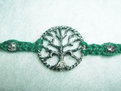 Celtic Tree of Life Hemp Bracelet  Hemp Jewelry  Green by psysub, $8.00