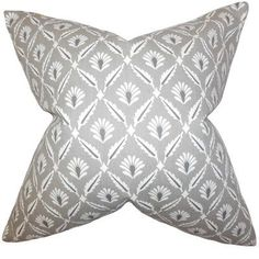 The Pillow Collection Alzbet Geometric Bedding Sham Color: Steel, Size: King