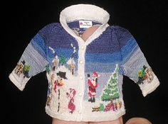 I'm a fan of this gal who knit Coraline's sweater and gloves. Check this out: Christmas sweater front by Althea Crome - Textiles - Gallery - IGMA Fine Miniatures Forum Thread Crochet, Knit Crochet, Bjd, Knitting Projects, Knitting Patterns, Christmas Barbie, Doll Dress Patterns, Miniature Christmas, Child Models