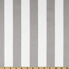 STUDIO COLLECTION   Awning Striped Fabric in Grey and White - Homeware - 5rooms.com