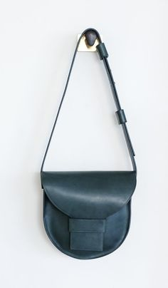 Sara Barner Large Saddle Bag  Forest. Forest Green Color 32c65ec4caf8b