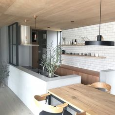 Interior Design Kitchen, Kitchen Decor, Small Tiny House, Small Apartment Kitchen, Bed In Living Room, Japanese Kitchen, Apartment Design, House Rooms, Home Renovation