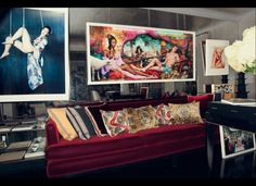 The Lifestyle Mirror: Daphne Guinness Opens Her Home To Emanuele Della Valle's New Site