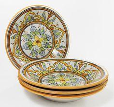 Salvena 5 Piece Pasta Salad Bowl Set Hand Made and Painted by Le Souk Ceramique #LeSoukCeramique