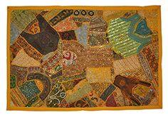 Indische Designer HängewandteppicheWall Tapestry Patchwork Design & Stickerei Work & Old Sari Patchwork, 152 X 102 Cm Rajasthali http://www.amazon.de/dp/B00PFSFF1G/ref=cm_sw_r_pi_dp_zXDZvb1Z7ZTC5