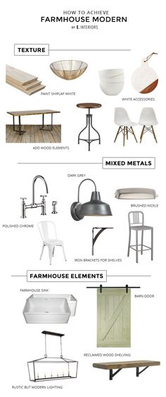 Three steps to creating a modern farmhouse kitchen in your own home.