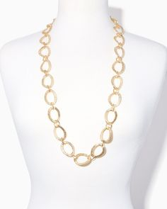Gilded Wavy Links Necklace | Charming Charlie