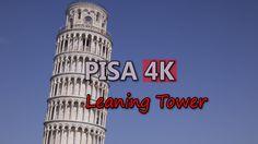 Ultra HD 4K Pisa Italy Leaning Tower Italian Travel Sightseeing People Visit UHD Video Stock Footage