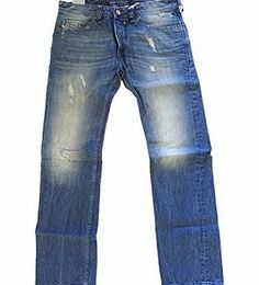 Diesel  mens safado wash 0075I denim jeans 30 waist 32 leg regular slim straight trousers chinos diesel mens safado jeans wash 0075I blue distressed faded design regular slim straight fit button fly classic 5 pocket design diesel branding on the back and small front (Barcode EAN = 8053627032970) http://www.comparestoreprices.co.uk/diesel-clothing/diesel-mens-safado-wash-0075i-denim-jeans-30-waist-32-leg-regular-slim-straight-trousers-chinos.asp