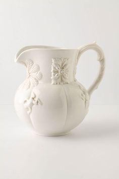 white pitcher via Anthropologie