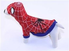 $34.95 - The #Spiderman #Dog #Costume is made with 100% cotton jersey with soft. cotton ribbing. The web and eyes are both screen printed in glow-in-the-dark paint.  Available in sizes 0-6 at Sugar Chic Couture:  https://www.sugarchiccouture.com/ProductDetails.asp?ProductCode=SDC-20  #superhero #pets #dogs #shop #gifts #cute #buy
