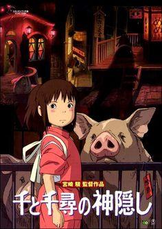 """Sen to Chihiro no kamikakushi (Spirited Away)"" (2001). COUNTRY: Japan. DIRECTOR: Hayao Miyazaki. SCREENWRITER: Hayao Miyazaki. COMPOSER: Joe Hisaishi. (Studio Ghibli)"