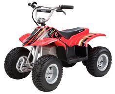 RAZOR 24V Dirt Quad Electric ATV 4-Wheeler - Red/Black