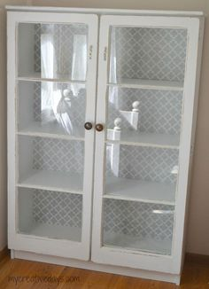 Hometalk :: Repurposed Window Cabinet