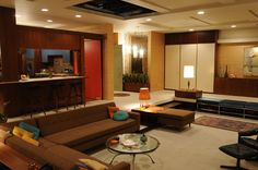 Mad Men - Don and Megan's NYC apartment (June 1966). Set decoration by Claudette Didul. Photo courtesy of AMC...