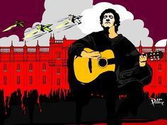 Victor Jara, Pearl Jam, John Lennon, Michael Jackson, Blues, Illustration Art, Culture, Portrait, Poster