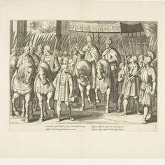 Optocht van Karel V met de paus bij de kroning te Bologna, 1530, nr. 3, Cornelis Boel, after Antonio Tempesta, 1614 - Rijksmuseum