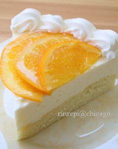 rinrepi@chicago:オレンジジュースで美味しいムースケーキ