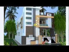INDIAN STYLE DOUBLE STORY HOUSE PLAN AND DESIGN IN HINDI - YouTube