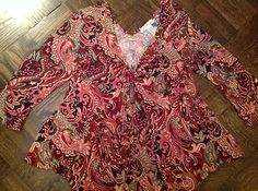 New Dressbarn  Bohemian Gypsy Paisley Top  Woman's XL $14.99  eBay