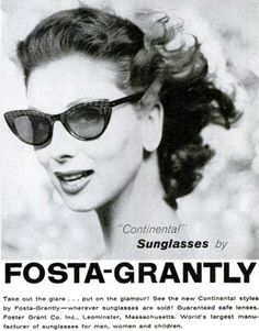 Take out the glare...put on the glamour with Fosta-Grantly sunglasses.  love.