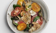 A light, colourful and flavourful main dish for high summer from Nigel Slater