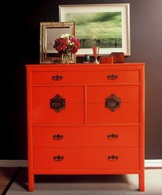 What orange paint can do for your dresser.