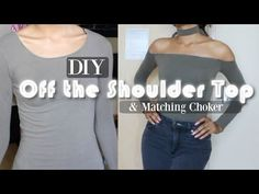 DIY TRANSFORMATION | off the shoulder top & matching choker - YouTube
