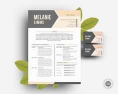 This is a very simple and clean 2 page resume template for MS Word, along with its corresponding cover letter and double sided business card templates.