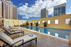 Take a dip in our gorgeous heated pool! #swissotel #sydney #summer