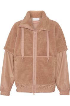 Adidas by Stella McCartney Faux fur and shell jacket - Shop for women's Jacket Hooded Bomber Jacket, Hoodie Jacket, Arab Fashion, Fashion Wear, Stella Mccartney Adidas, Rain Wear, Sweater Weather, Hooded Sweatshirts, Jeans
