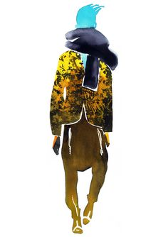 Silhouette of outfit then prints and colours put in on illustrator