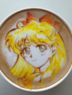 Mind-Blowing Anime Latte Art that you can actually drink created by barista Sugi. She uses only toothpicks, chocolate syrup for the dark areas and cocktail syrups for the other colors.