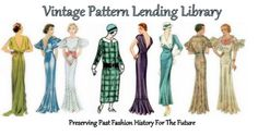 The Vintage Pattern Lending Library preserves, archives, and replicates historic fashion patterns from 1840 through 1950, vintage sewing publications, and fashion prints of the past.