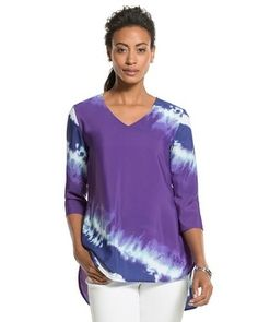Merida Tie-Dye Top from Chico's on Catalog Spree, my personal digital mall.