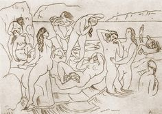Pablo Picasso The ather series Tutt'Art@ () Picasso Prints, Art Picasso, Picasso Drawing, Picasso Images, Picasso Portraits, Henri Matisse, Bombing Of Guernica, Picasso Sketches, Cubist Movement