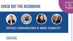 Difficult Conversations, Professional Development, Disability, Continuing Education