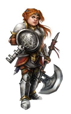 Female Dwarf Cleric of Abadar - Pathfinder PFRPG DND D&D d20 fantasy