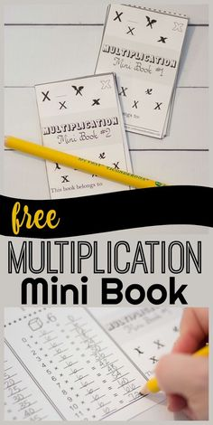 FREE Multiplication Mini Book - this is such a fun way for kids to practice math that is way better than multiplication worksheets beacause it can be used to practice again and again. Multiplication & Division for Kids Free Multiplication Worksheets, Teaching Multiplication, Teaching Math, Multiplication Strategies, Lattice Multiplication, Grade 3 Math Worksheets, Maths, Math Teacher, Third Grade Math
