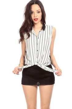 f694195a9dce52 CICI HOT: Striped Woven Button Up Blouse Buy Now $41.99 Find at Faearch