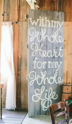 Love this sign - would be a great idea for an Oregon Wedding!