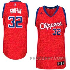 02555b34d Blake Griffin Los Angeles Clippers  32 Crazy Light Leopard Swingman Jersey