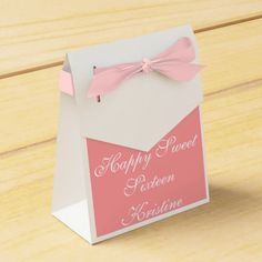 Customizable Sweet 16 Party Favor Boxes - Personalize - Party Supplies - Birthday