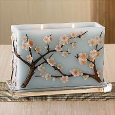 Beautiful decorative candle
