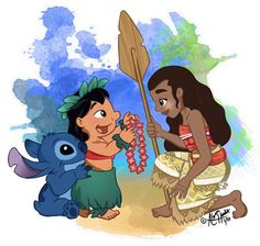 Image result for moana and lilo and stitch